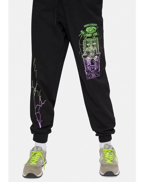 X Playdude Court Case Graphic Sweatpants