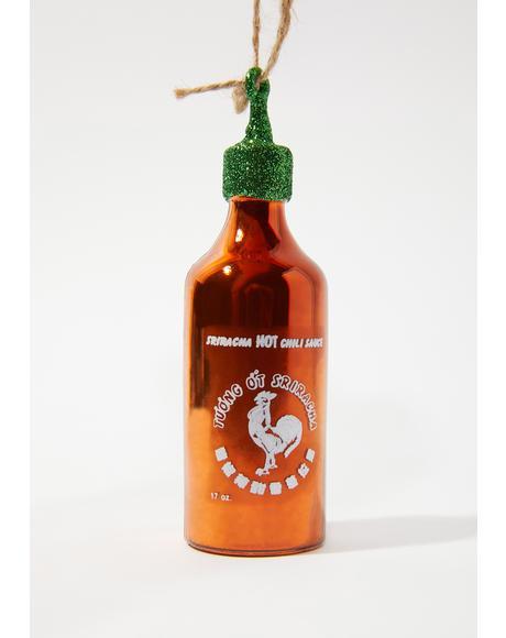 Hot Sauce Lover Sriracha Ornament
