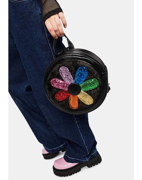 Holly Jolly Glitter Flower Backpack