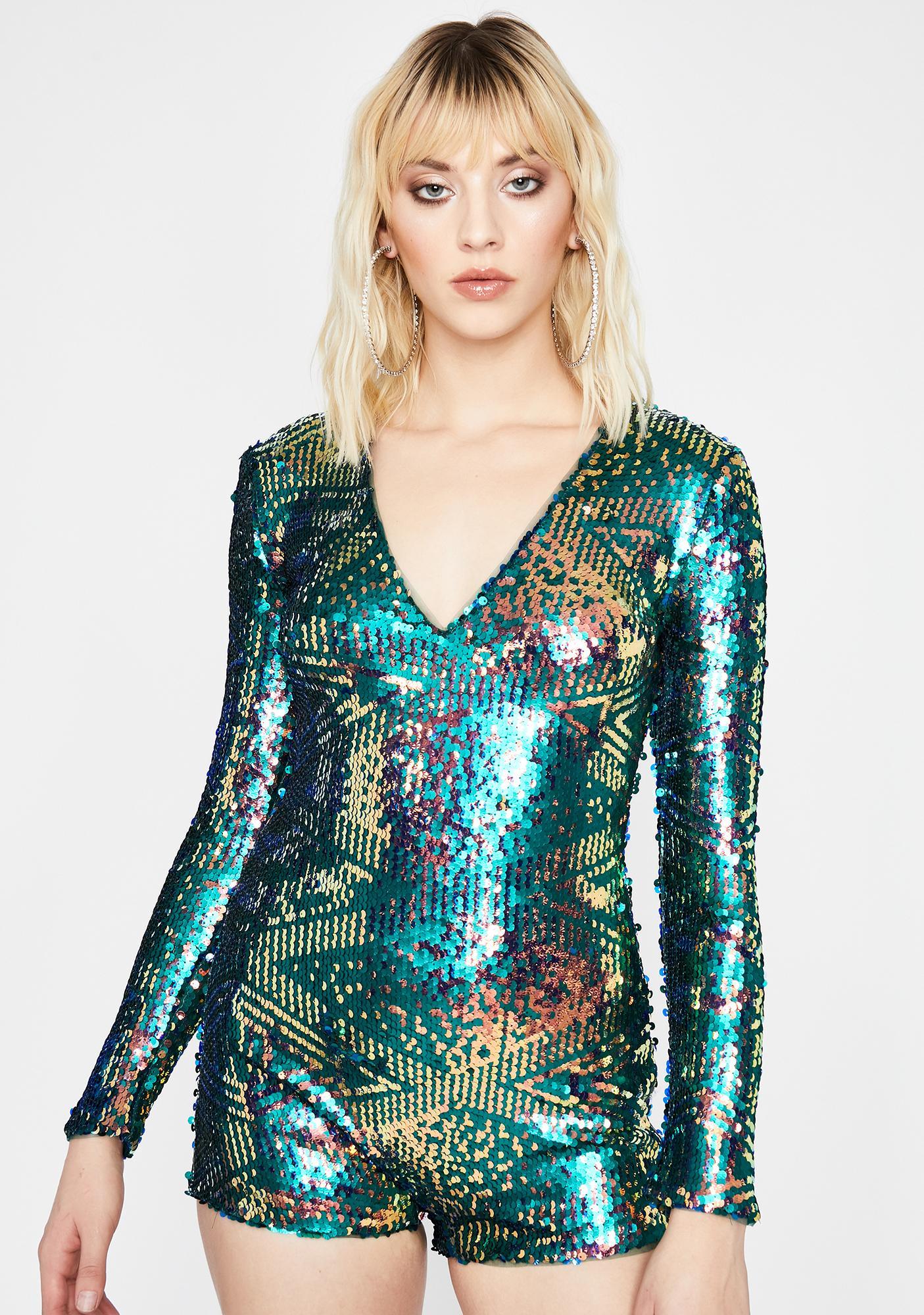 Jade Dancefloor Diva Glitter Romper