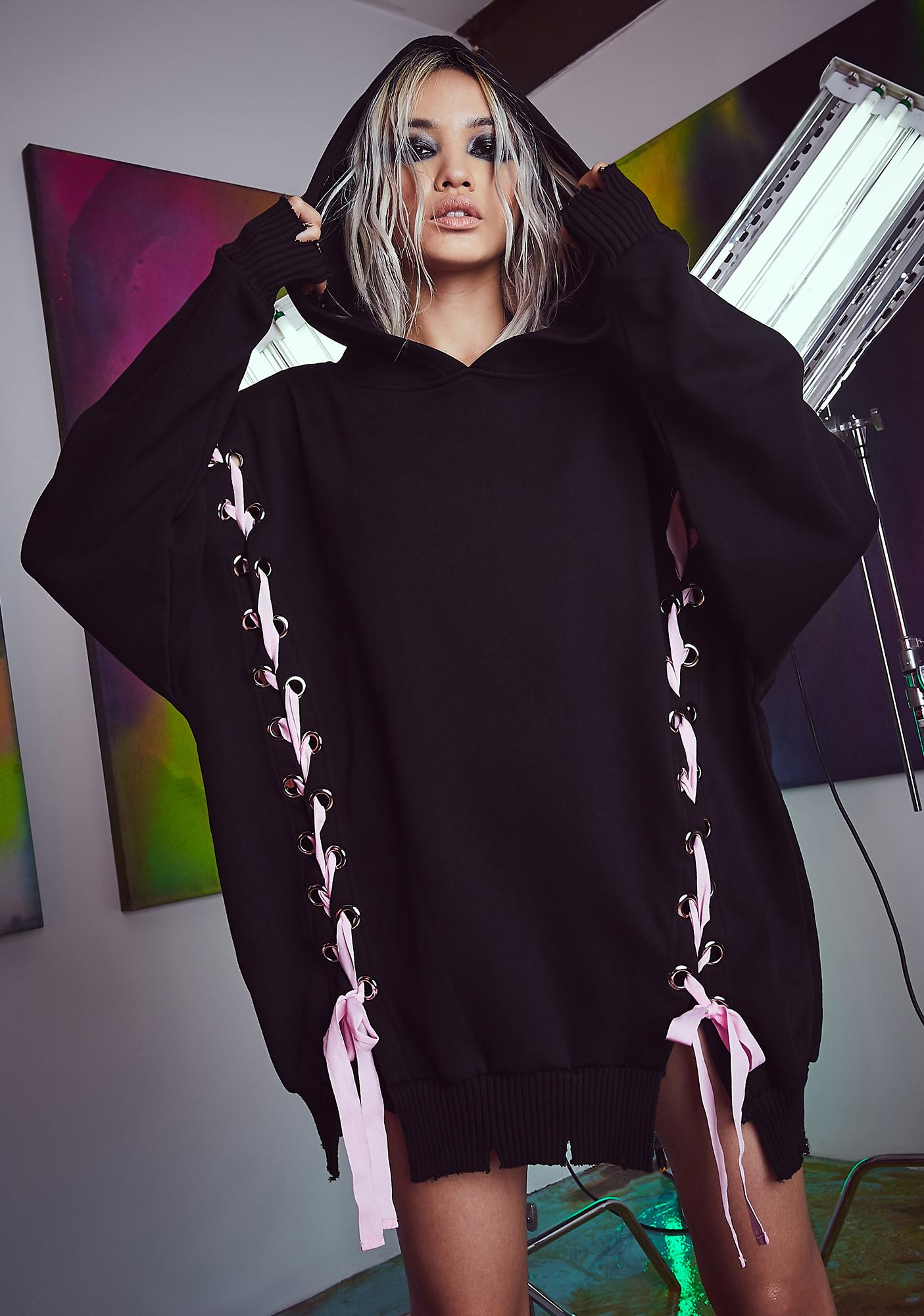 Current Mood All Tied Up Oversized Hoodie