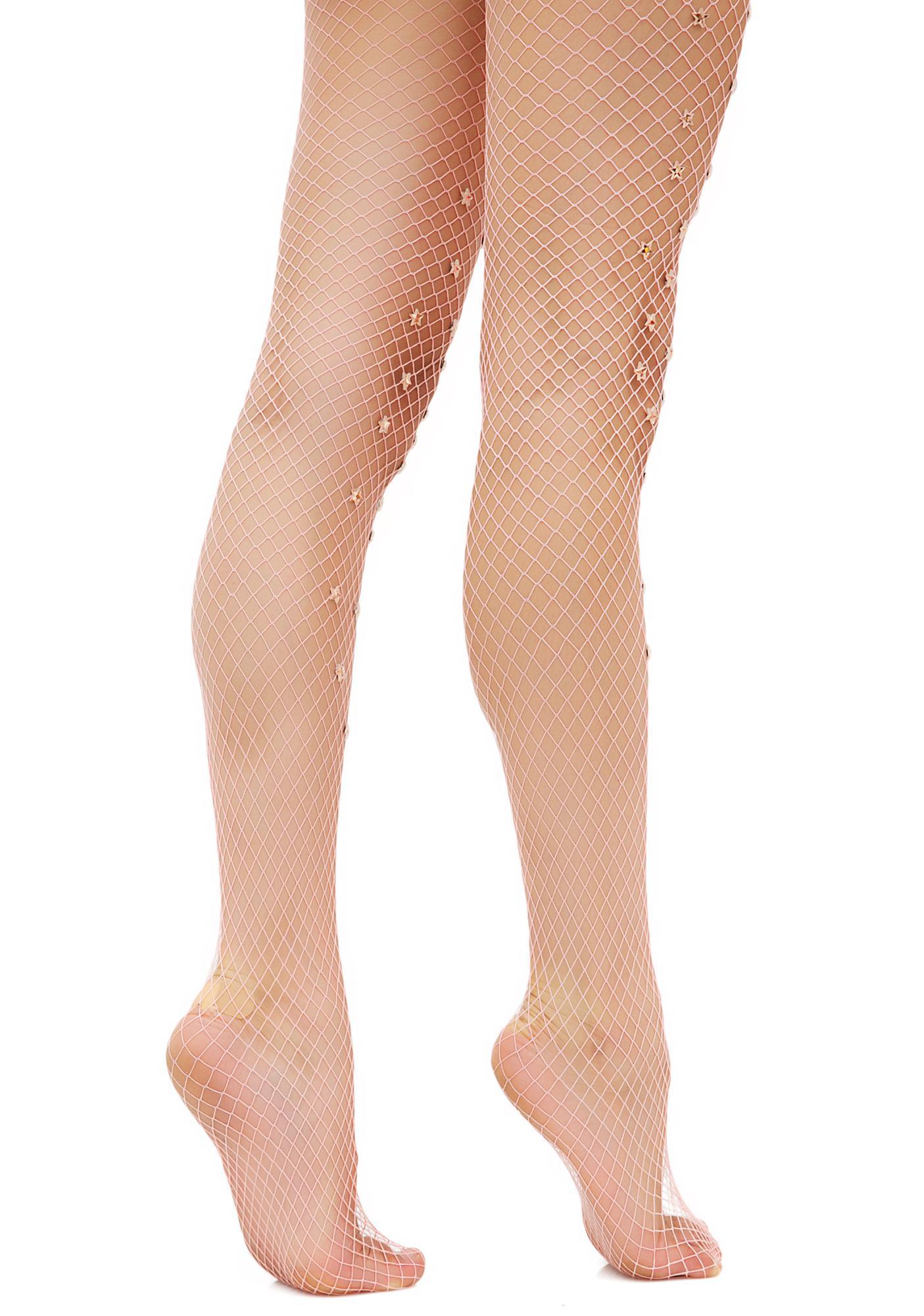 Lirika Matoshi Star Sign Handmade Fishnet Stockings