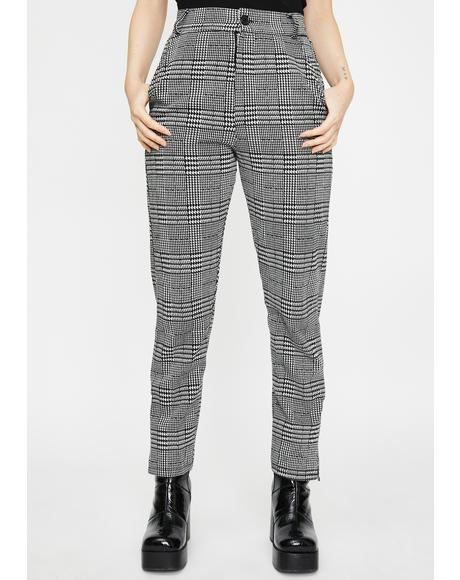 Nina Plaid Trousers