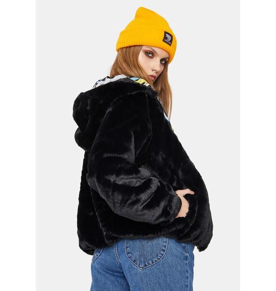 Members Only Looney Toons Faux Fur Jacket