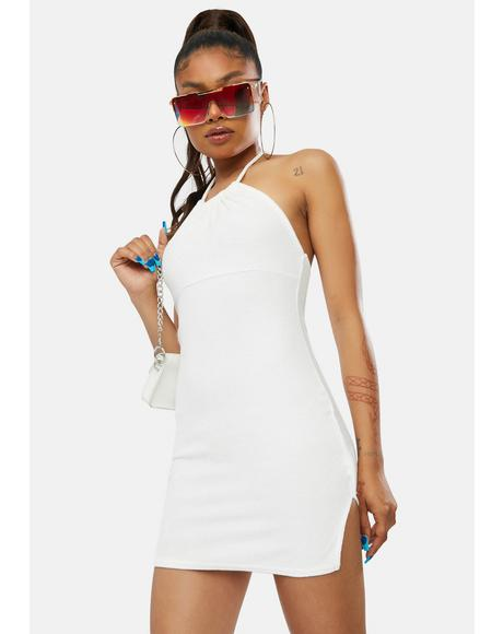 NYC & Me Terrycloth Halter Mini Dress