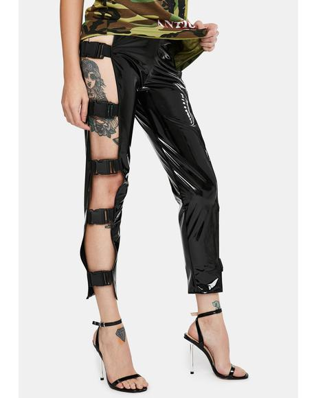 PVC Buckle Pants