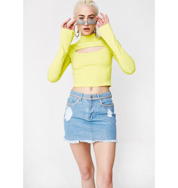 Poster Grl Lime Lucky Streak Cut-Out Top