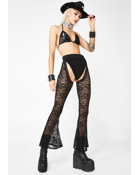 Ride Dirty Lace Chaps Set