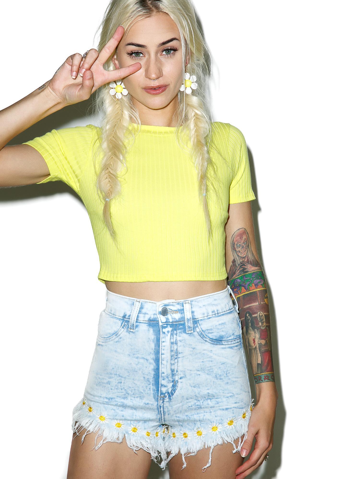 Daisy Mae Acid Wash Shorts