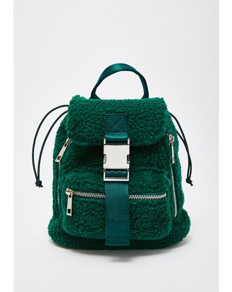 Trendin' Topic Sherpa Backpack