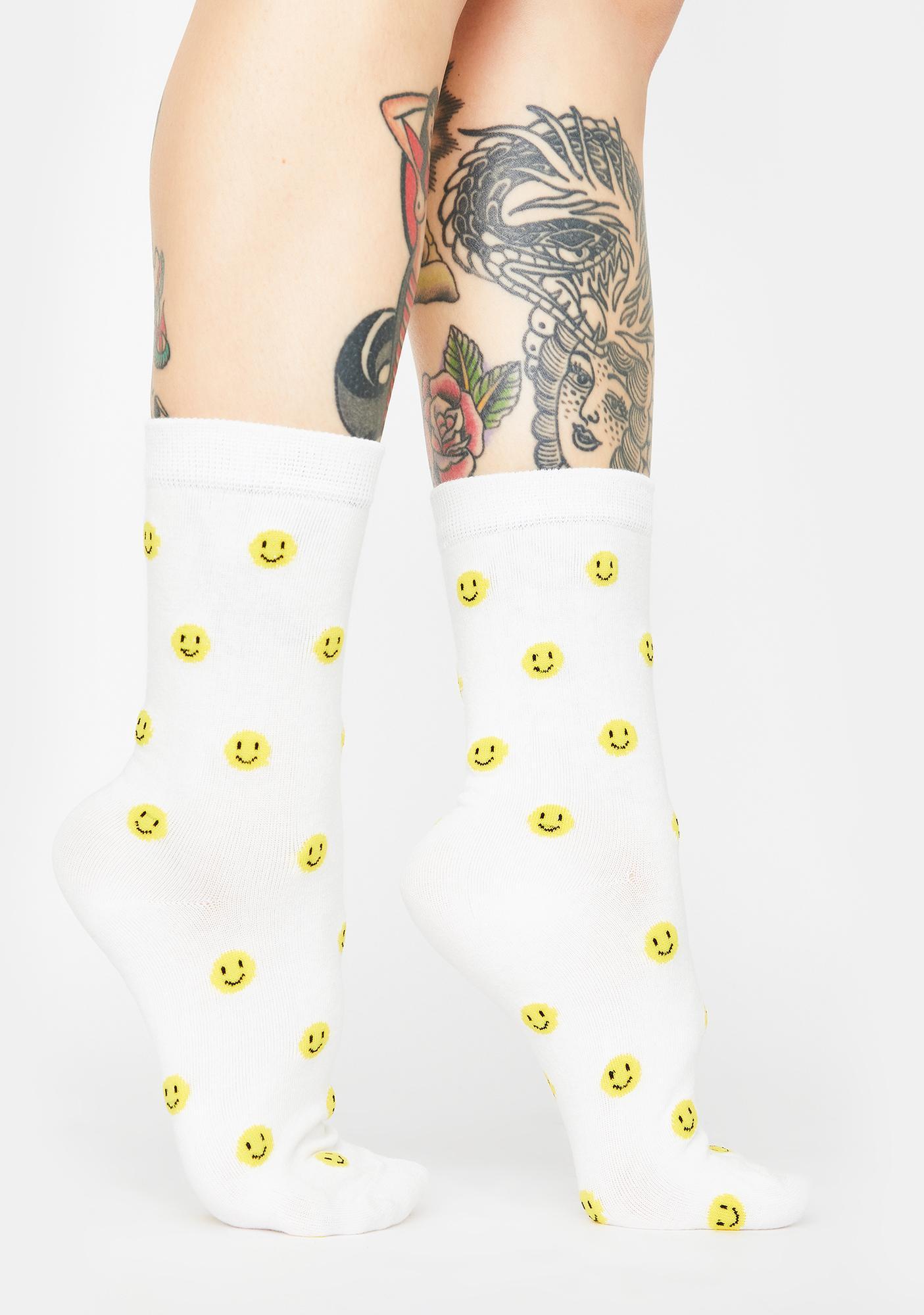 Gimme A Smile Crew Socks