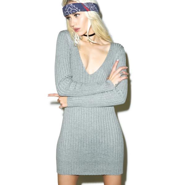 For Love & Lemons  Everyday Knit V-Neck Dress