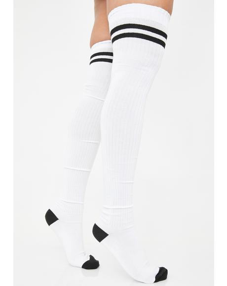 Locker Room Goss Thigh High Socks