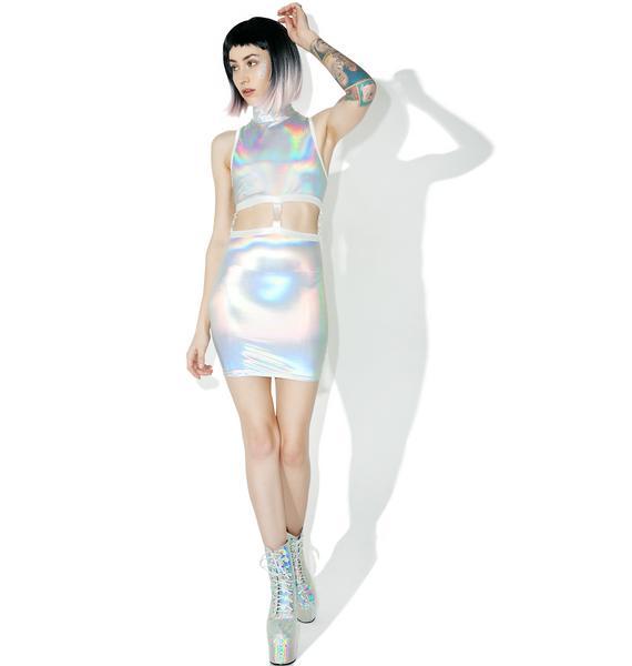 Current Mood Gravitational Hologram Dress Set