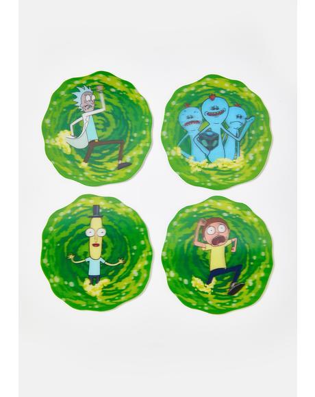 Rick N' Morty 3D Coasters