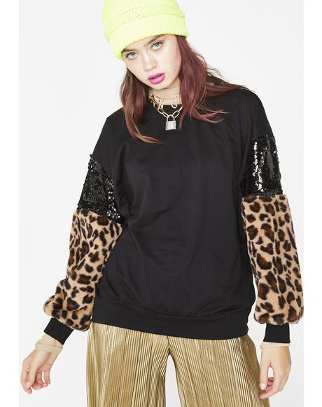 Exxtra Fierce Sequin Sweatshirt