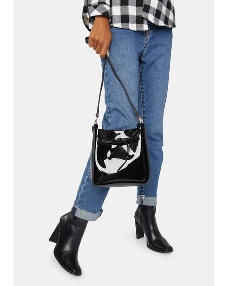 Broken Matrix Bucket Bag