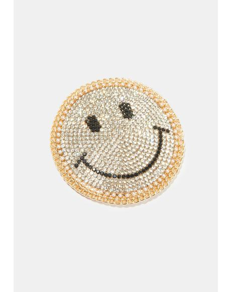 Smiley Face Rhinestone Pasties