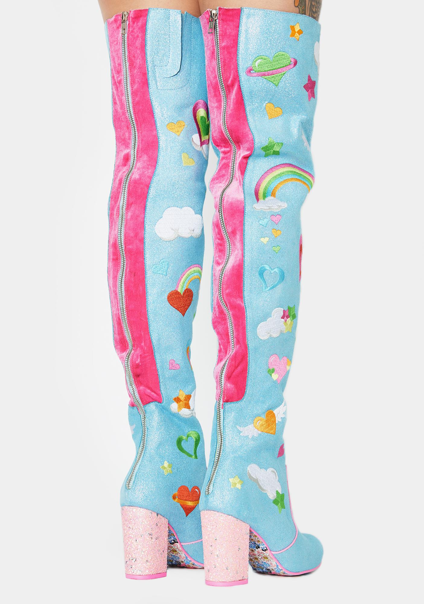 Irregular Choice Finders Keepers Thigh High Boots