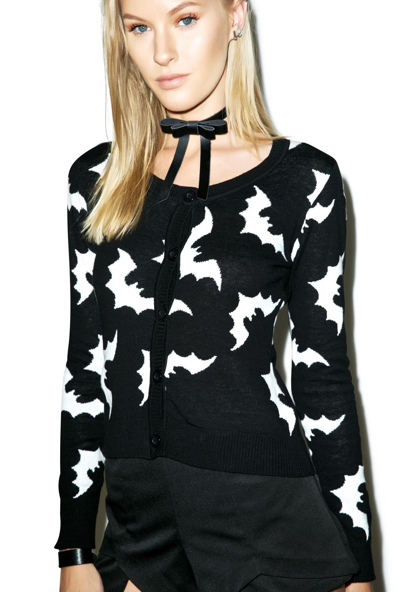 Sourpuss Clothing Batty Cardigan