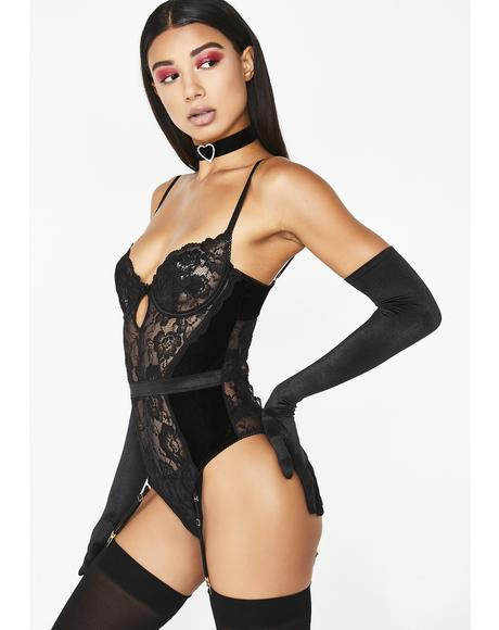 Midnight Freak Nasty Lace Teddy