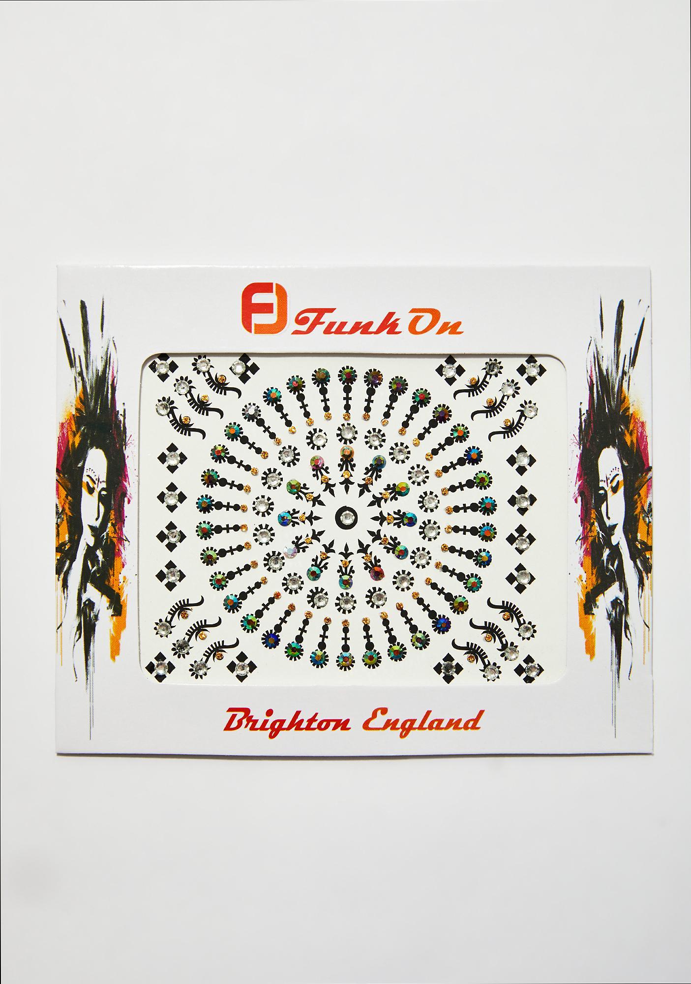 FunkOn Galaxy Iridescent Festival Face Jewels