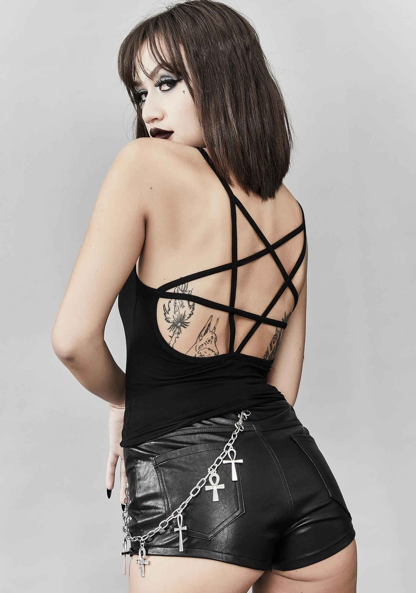 Widow Dark Omens Pentagram Tank