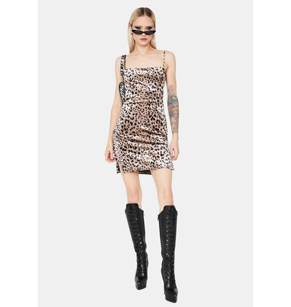Catty By Nature Satin Slip Dress