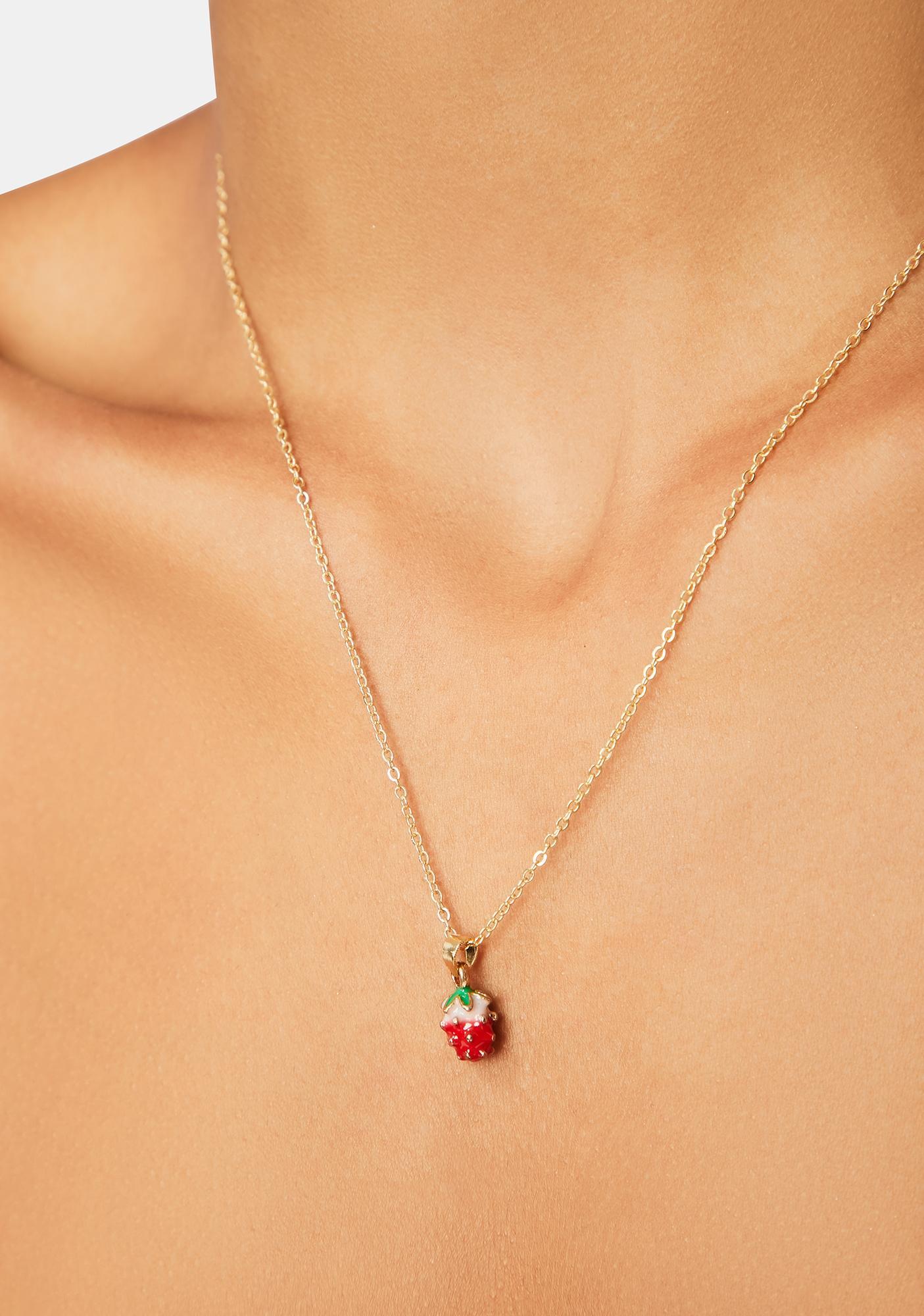 Sweetest Treat Strawberry Charm Necklace