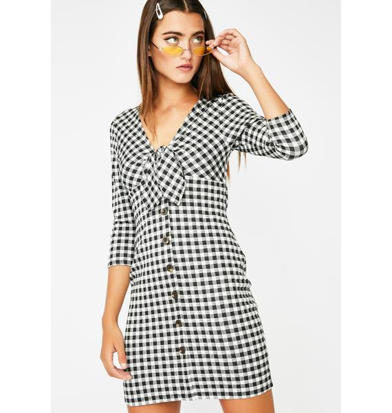 Bad News Gingham Dress