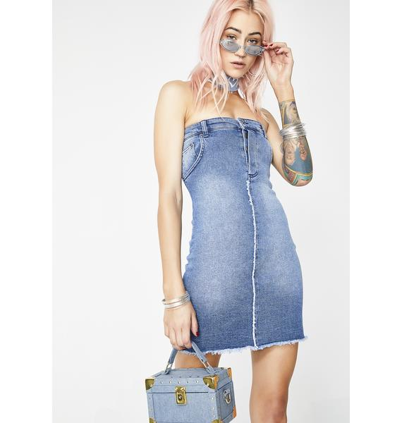 Jaded London Jean Waistband Mini Dress