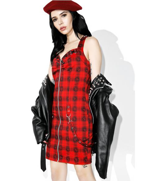 Sweet �N Sour Plaid Dress