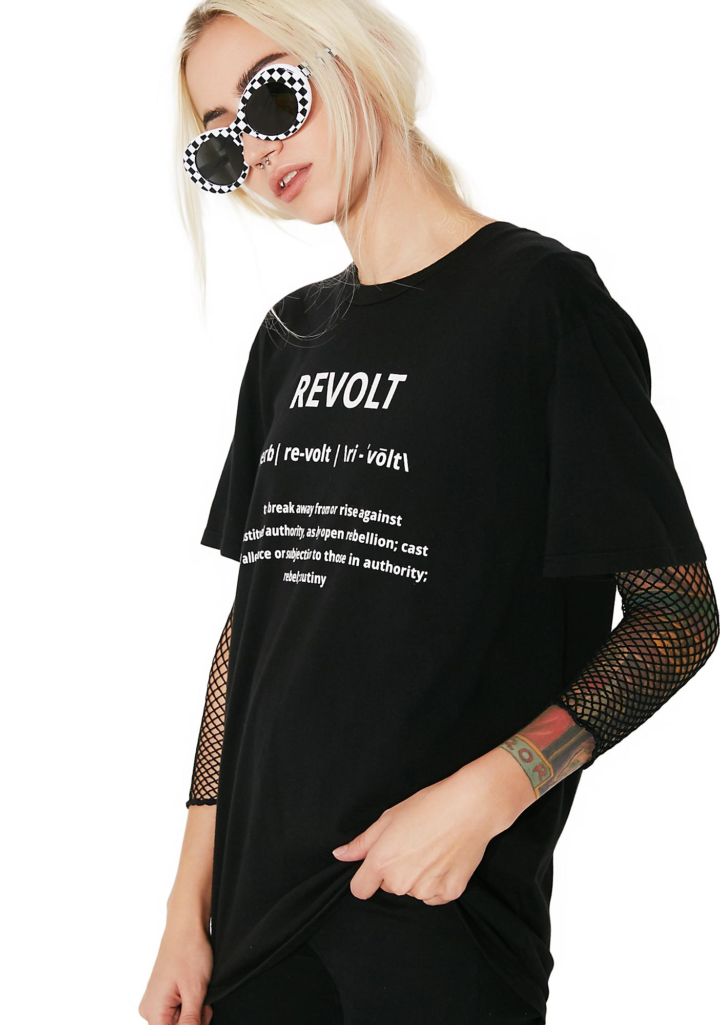 Hips and Hair Revolt Band Tee