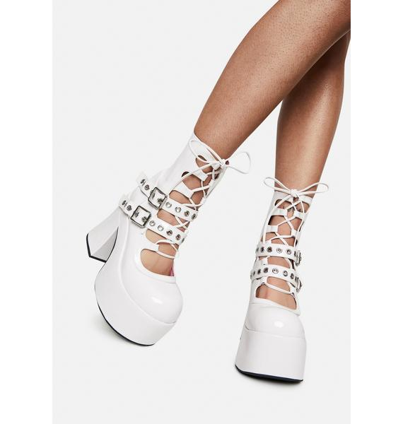 Sugar Thrillz Stay With Me Strapped Buckle Booties