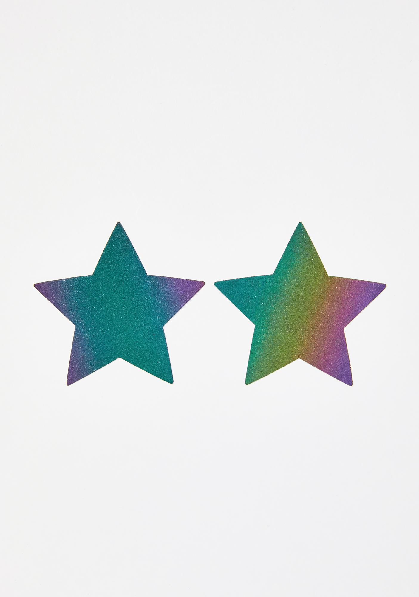 Pastease Rainbow Reflective Star Pasties
