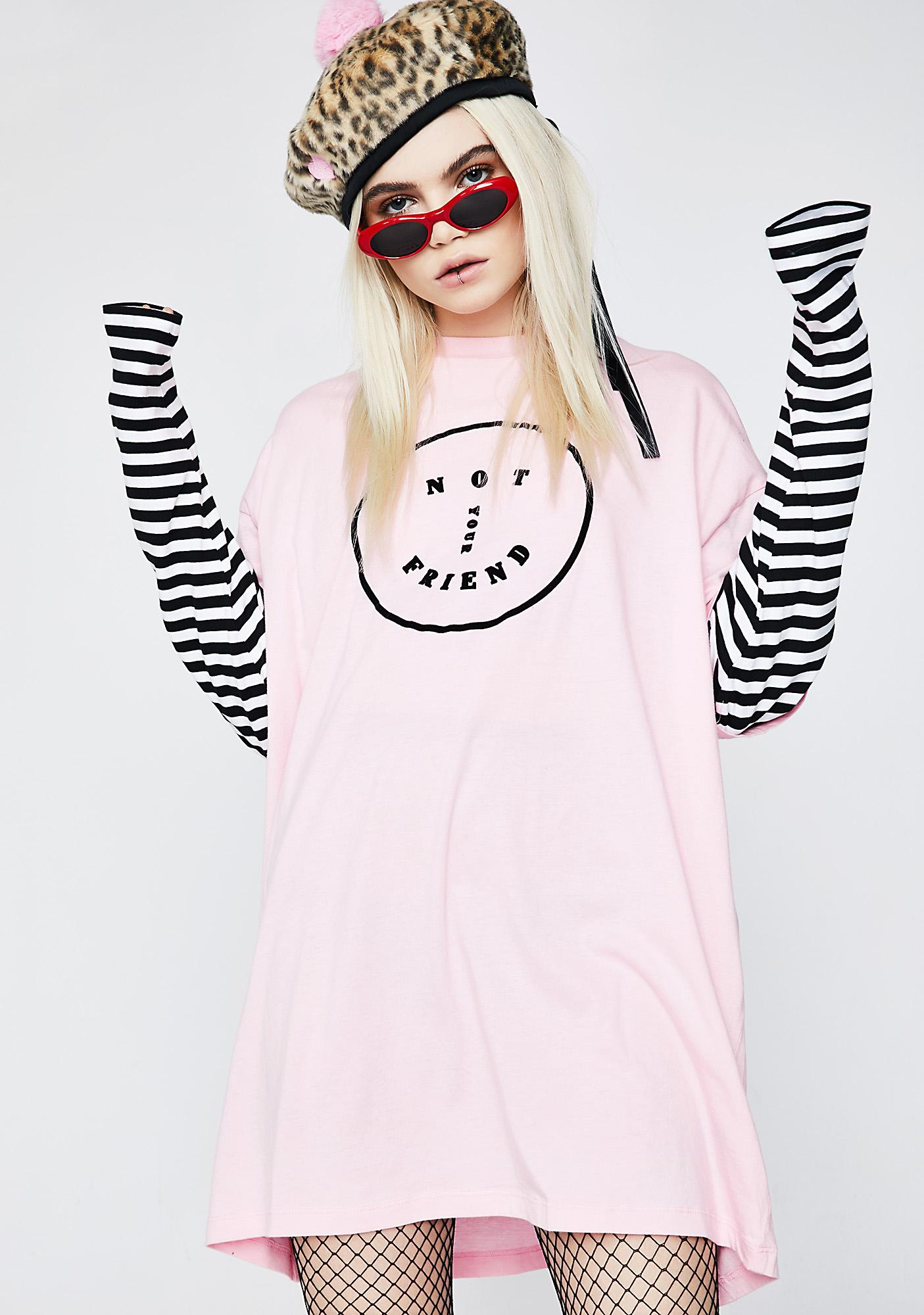 Lazy Oaf Not Your Friend Long Sleeve Tee