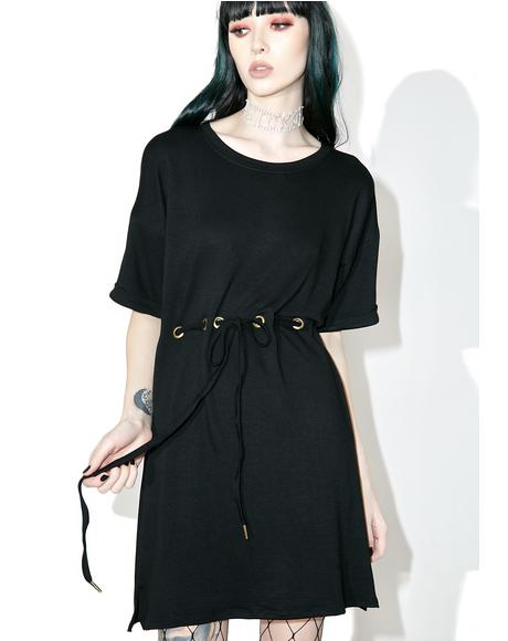 Bonded Drawstring Dress
