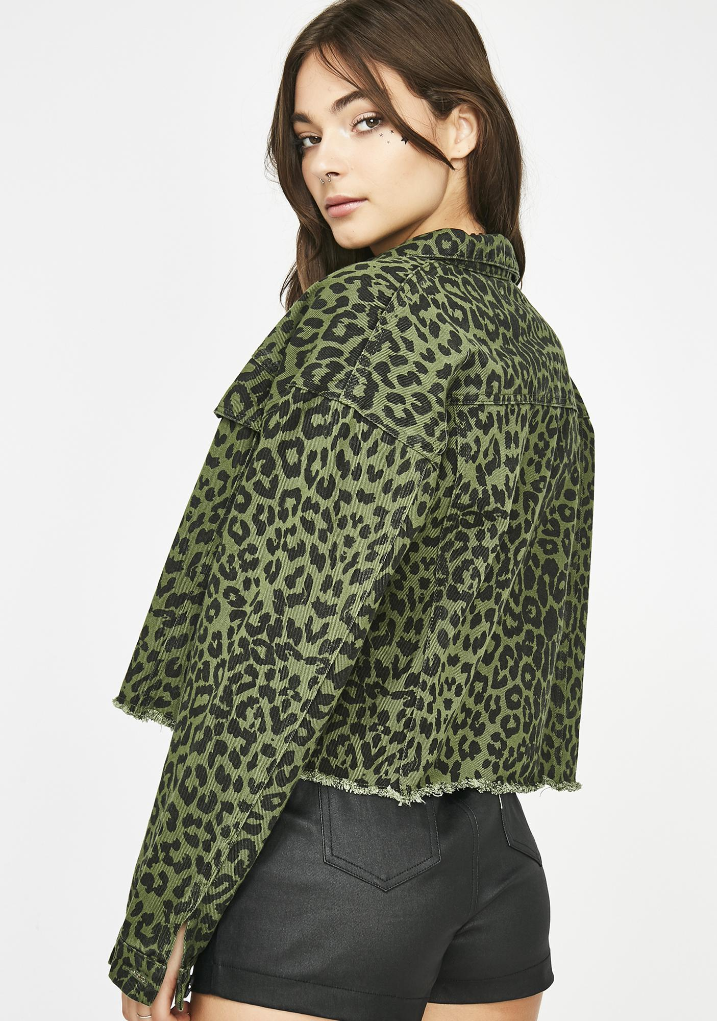 Queen Kitty Leopard Jacket