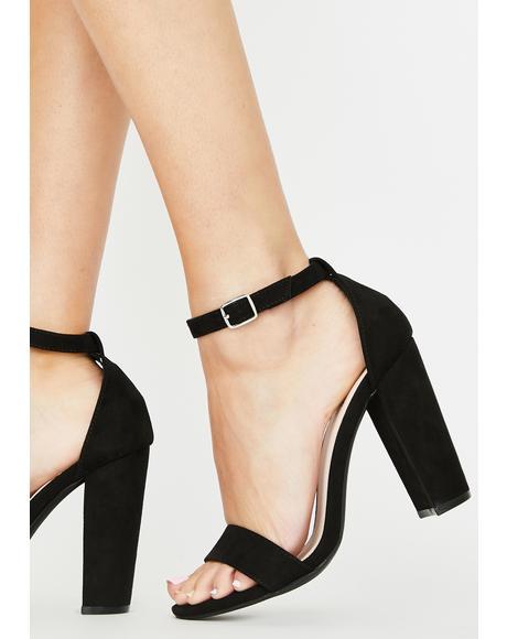 Baddie Always Flossin' Block Heels