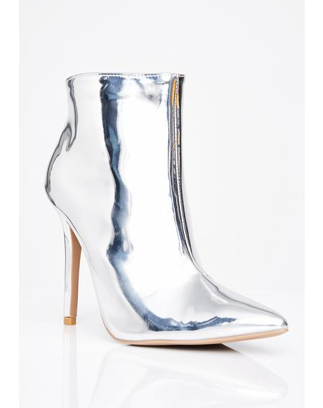 Jet Fuel Metallic Booties