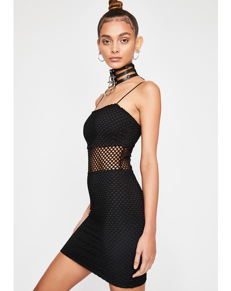 Dark On The List Cutout Dress