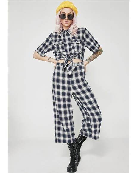 Gone Bad Plaid Jumpsuit