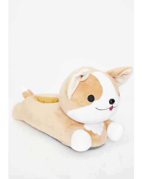 Milo Corgi Heat Up Slippers