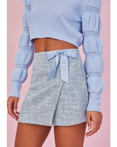 Fly Me To Paris Tweed Skort