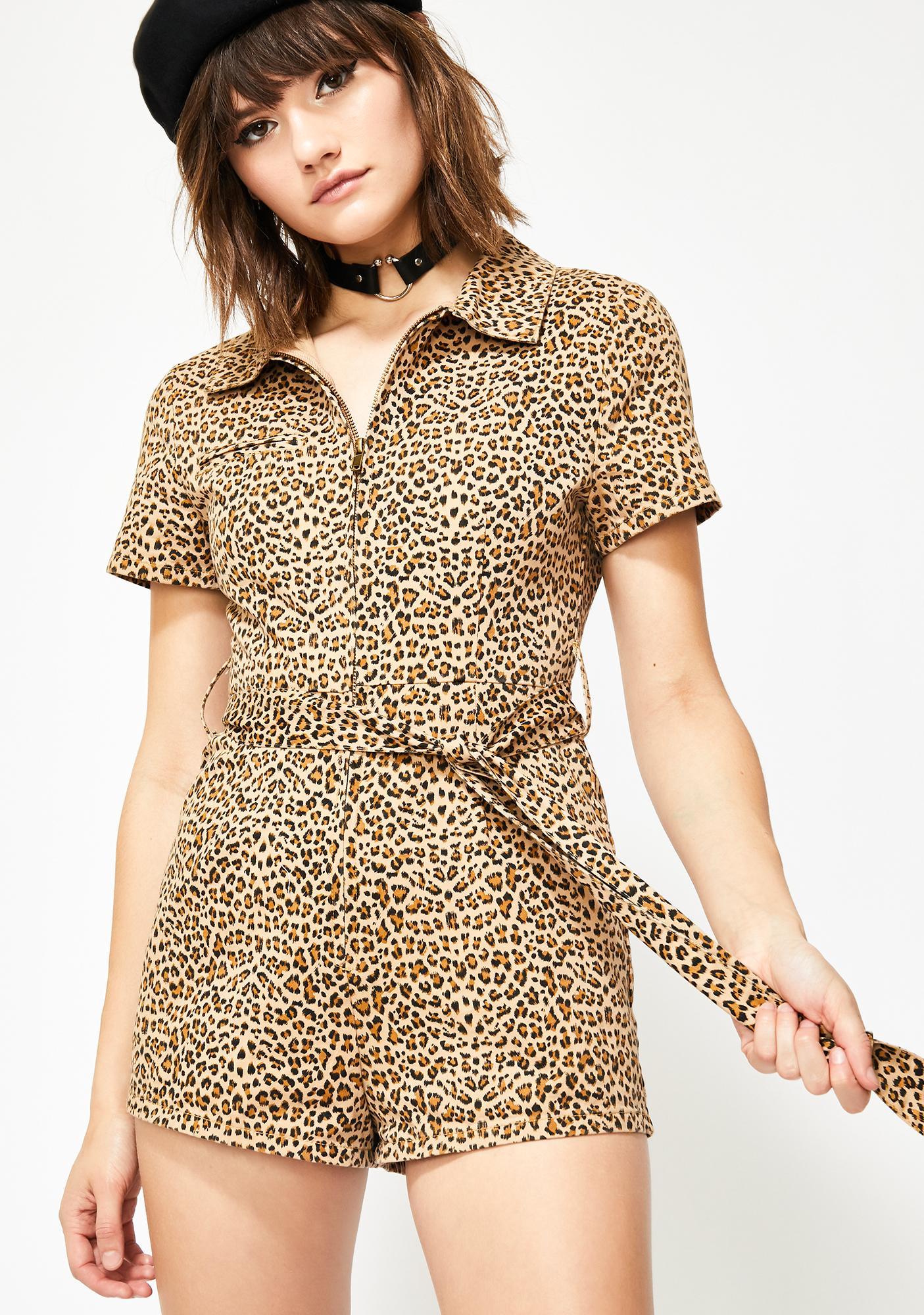 Slayage Chic Leopard Romper