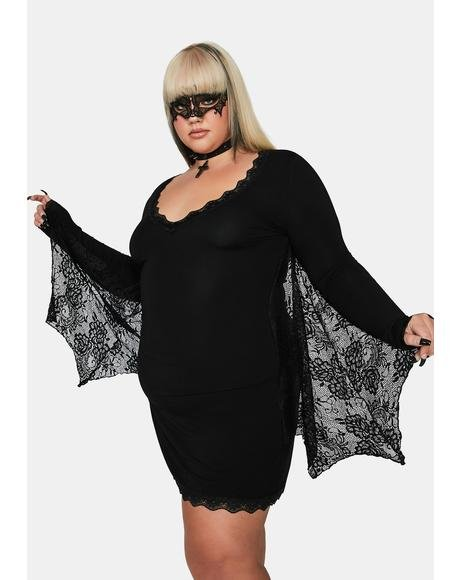 True Bashful Bat Costume Dress