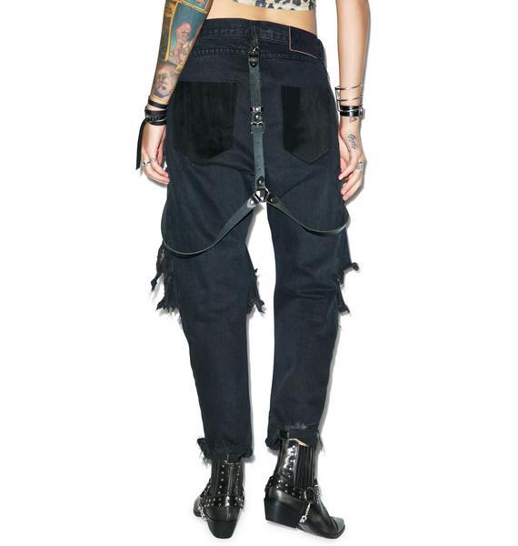 One Teaspoon Fox Black Lonely Boy Jeans