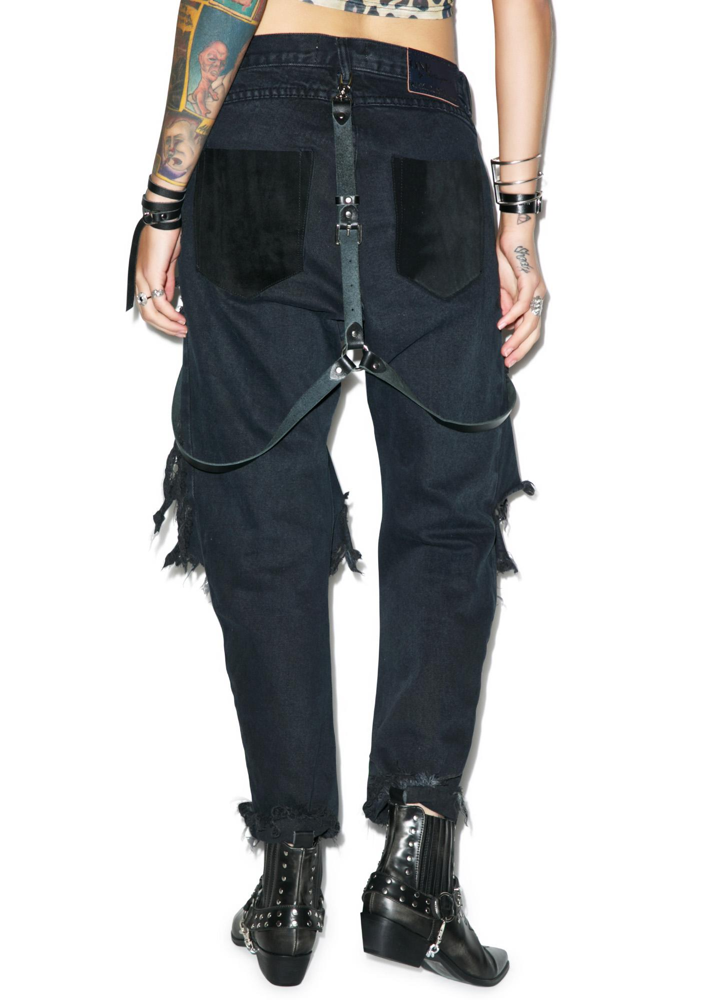 One Teaspoon Fox Black Lonely Boy Jeans
