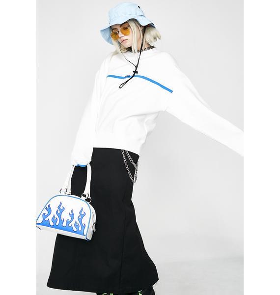 x-Girl Lined Ribbed Sweatshirt