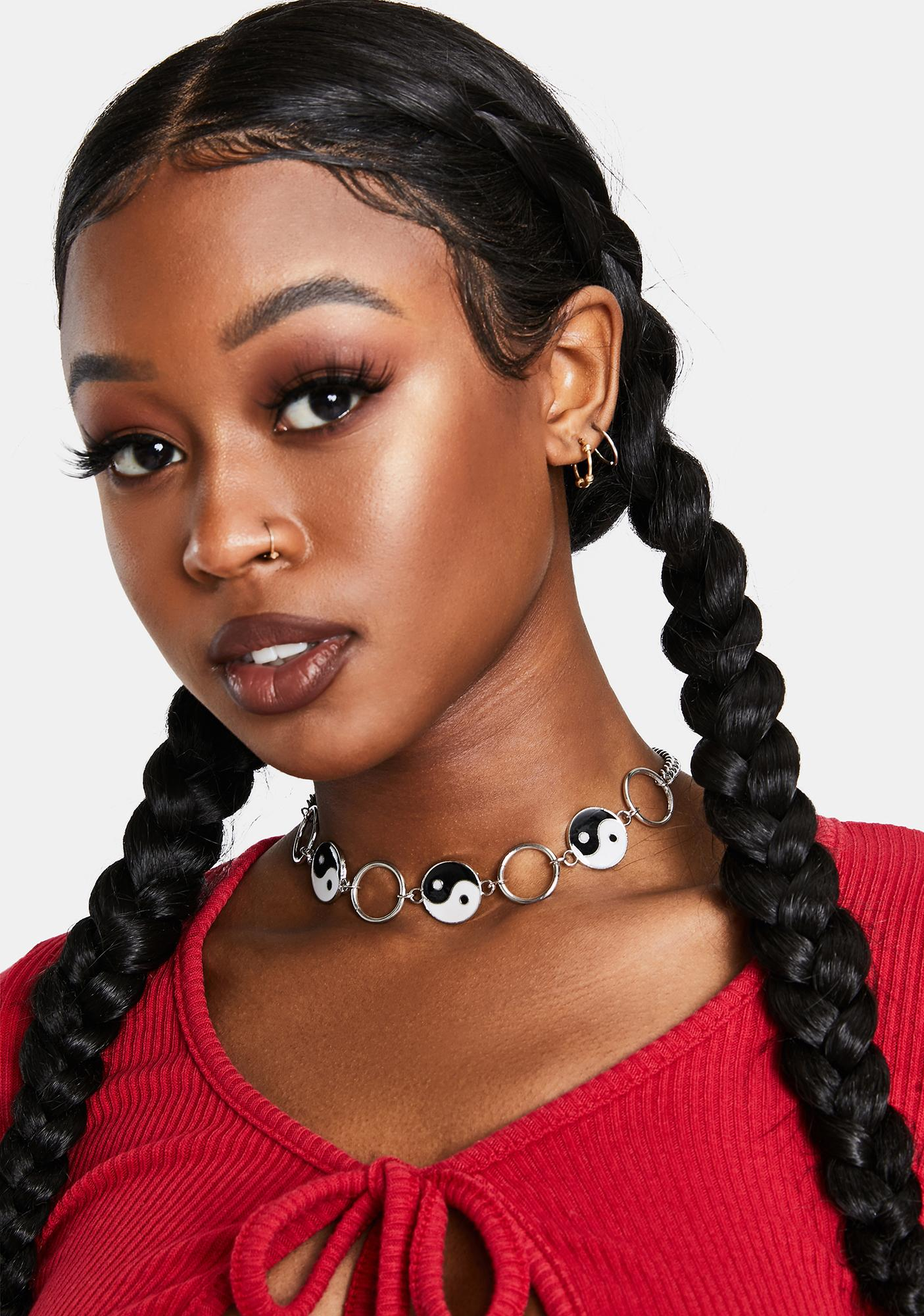 One Or The Other Yin Yang Choker